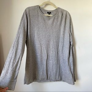 VINCE Mens Grey Long Sleeve Cotton Modal Shirt XL